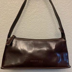 Kenneth Cole Small Brown Leather Handbag